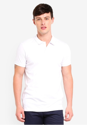 Brave Soul white Short Sleeve Polo Shirt CBB75AA66088EEGS_1