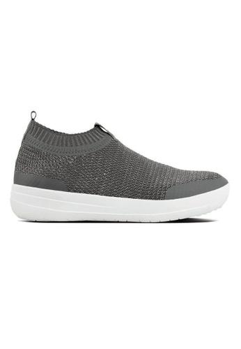 FitFlop grey Fitflop Uberknit Slip-On Sneakers (Charcoal/Metallic) A0BE2SH055AC7DGS_1