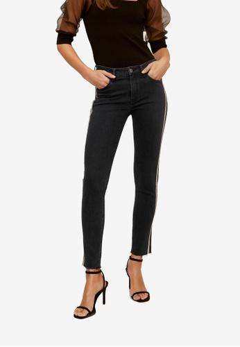 Mango black Skinny Sparkle Jeans 9BAB6AA1EC8A83GS_1
