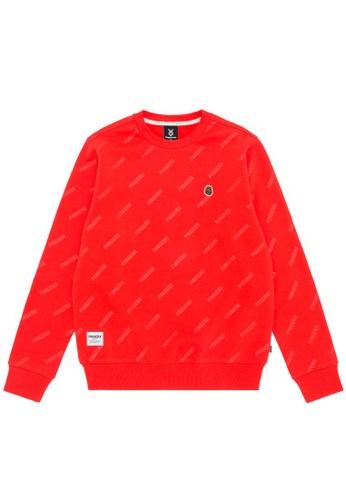 Fingercroxx orange Bigfoot logo print sweatshirt 2E5CCAAE777F2BGS_1