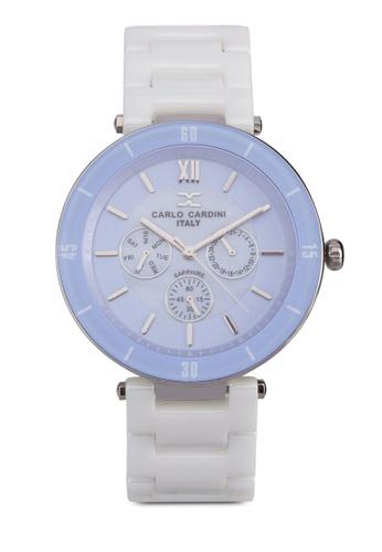 Carlo Cardini white and purple Carlo Cardini Watch 4027LC-WHT-9 CA038AC91IZKMY_1