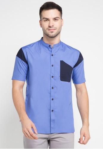 Salt n Pepper blue Mens Shirt SA324AA0VO0MID_1