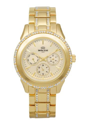 Roscani gold Roscani Danica B37 (Multifunction + WR 5ATM) Gold Bracelet Women Watch 3EB3BAC8E6B707GS_1
