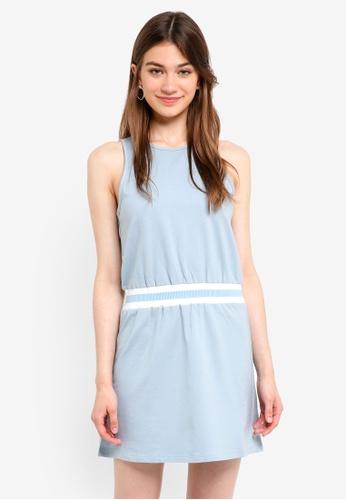 Something Borrowed blue Stripe Rib Cut In Dress 3D16AAAC365EDCGS_1