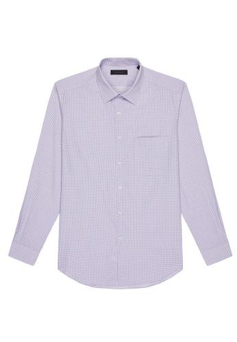 D'urban purple Checked Shirt C6024AA88B4CCEGS_1