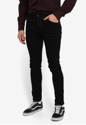 !Solid black Dexter Skinny Stretch Italian Denim Jeans SO701AA0S2VLMY_1
