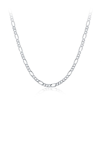 Glamorousky silver Fashion Simple Figaro Necklace 50cm FCA92ACEC868ABGS_1