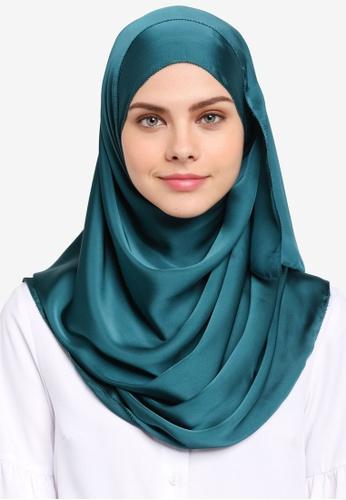 Najjah green Satin Silk Shawl NA225AA0SR6FMY_1