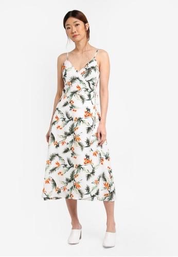 Something Borrowed white Wrap Cami Midi Dress 42827AAFC5A84EGS_1