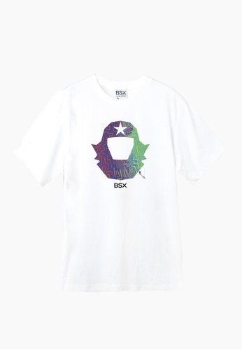 BSX white BSX Unisex's regular fit printed logo tee (Online exclusive) (0409029871) BBB84AADB6BA2EGS_1
