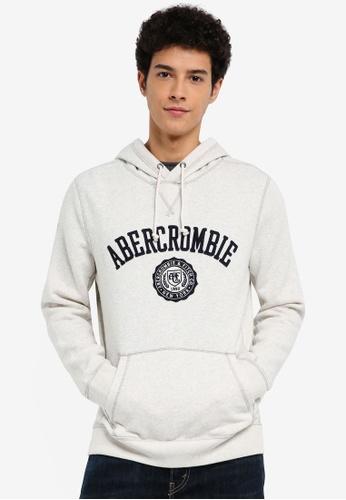 Abercrombie & Fitch 灰色 Core Logo Pop Pullover EA838AA8E6C870GS_1