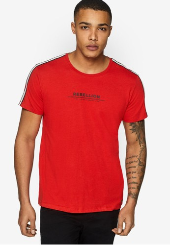 ESPRIT red Racing Stripes Jersey Tee 23855AA9363224GS_1