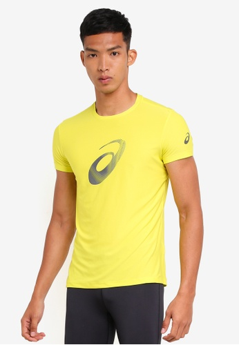 Asics yellow Graphic Short Sleeve Top AS989AA0SVQZMY_1