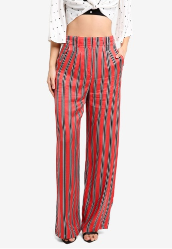 TOPSHOP red Striped Slouch Trousers TO412AA0SZ6XMY_1