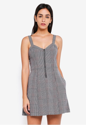 Abercrombie & Fitch grey Zip Up Pinafore Dress D19D7AA73F7A28GS_1