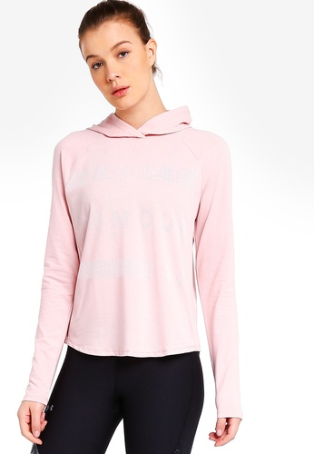 Under Armour pink Pindot Graphic Hoodie 82F3AAA5B16C81GS_1