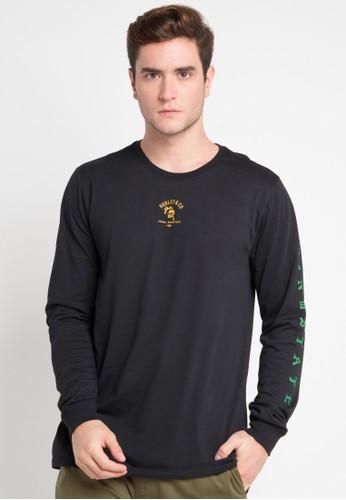 hurley black and multi Dri-Fit Aloha Mindset Long Sleeve T-Shirt DCE05AA2B975EDGS_1
