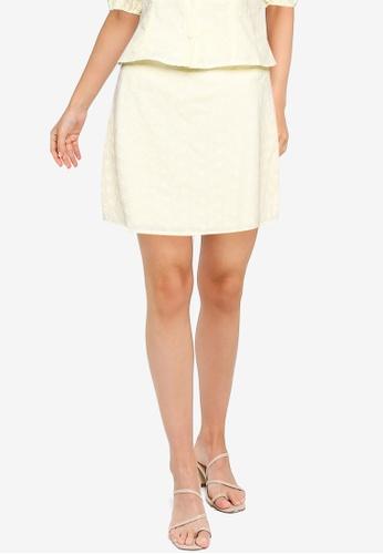 ZALORA OCCASION yellow A-Line Mini Skirt 3F206AAC7161DFGS_1