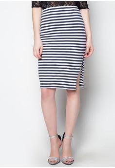 Chill Up Midi Slit Skirt