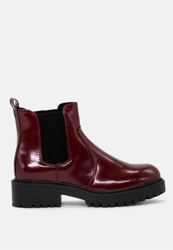 London Rag red Patent Boots with Chunky Sole SH1773 DEE36SH8D80FC7GS_1