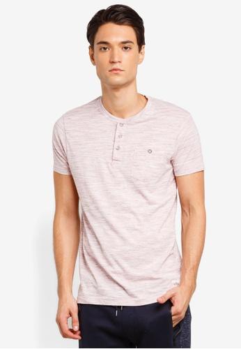 Brave Soul 粉紅色 短袖口袋T恤 278F2AA2813F97GS_1