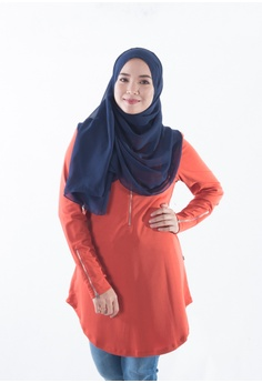 2b95ccec8dcce3 EDZ EDZ Adele Ruffle Soft Cotton Blouse in Moon Beam Ivory RM 137.00. Sizes  XS L XL XXL · EDZ red and brown Aina Basic Casual Metal Zip Blouse in Coral  ...