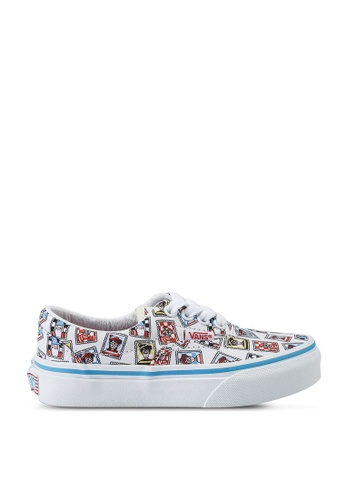 Vans white and blue and multi Vans X Where's Waldo Era Sneakers 16CAAKS64E95C7GS_1