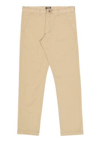 izzue beige Straight cut chino pants C1DC9AA208A798GS_1