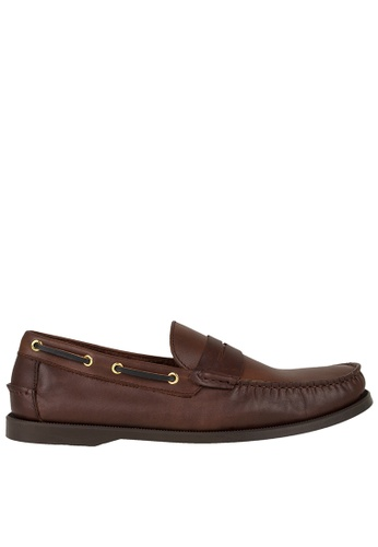 Tomaz Tomaz C329 Leather Penny Loafers (Coffee) 5C92ESH0D1B9BCGS_1