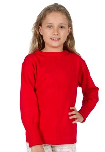 Adkidz red Adkidz Round Neck Sweater C993FKA04B3BE9GS_1