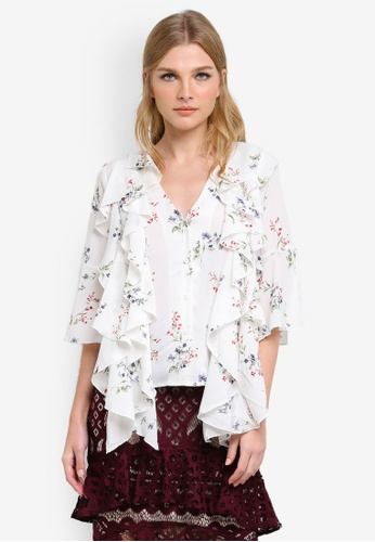 bYSI white Printed Tiered Top BY867AA0S3K9MY_1
