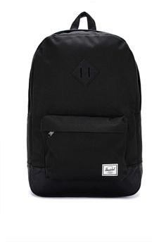 03796ff8d39a8 Herschel black Heritage Backpack 48002AC82C182BGS 1