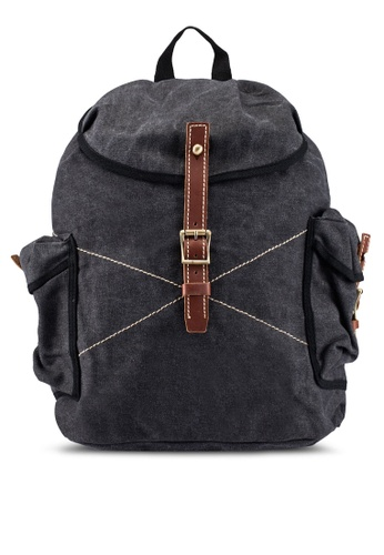 High Cultured black Canvas Backpack HI002AC0S1WDMY_1