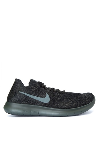 Nike black and grey Men's Nike Free Run Flyknit 2017 Running Shoes NI126SH0JNQHPH_1