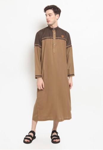 ZAYIDAN n/a Zayidan Gamis Jubah Muslim Pria Abdad - Khaki B71FBAAE831D73GS_1