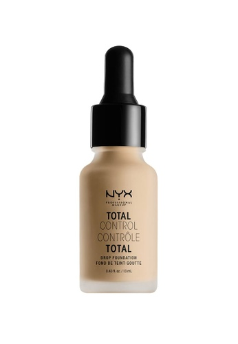 NYX Professional MakeUp brown NYX PROFESSIONAL MAKEUP Total Control Drop Foundation - Nude B145ABE086F0F0GS_1