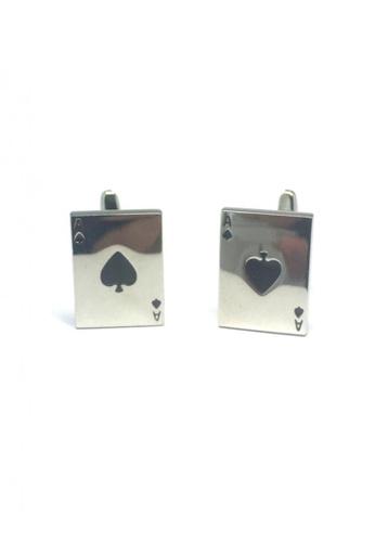 Splice Cufflinks silver Silver Ace Cufflinks   SP744AC66DTDSG_1