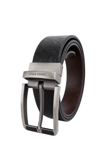 Swiss Polo brown 35mm Reversible Belt 22F77ACF32452EGS_1