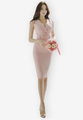 Sunnydaysweety pink Sleeveless One Piece Dress 32033AA26547EBGS_1