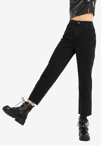 PIMKIE black High Waist Straight Leg Jeans E1827AA66B3BABGS_1