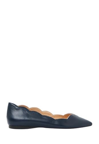 Nina Armando navy Alyson Leather Ballet Flats NI342SH0G7UFSG_1