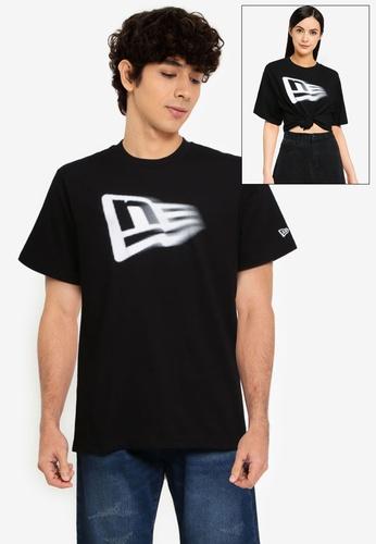 NEW ERA black Flag Motion Logo Tee 277C5AAA10D910GS_1