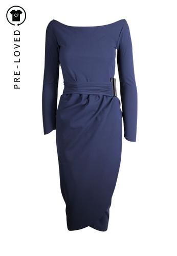 La Petite Robe Di Chiara Boni blue Pre-Loved la petite robe di chiara boni Sapphire Blue Long Strech Dress 8FBF7AAFA4D843GS_1