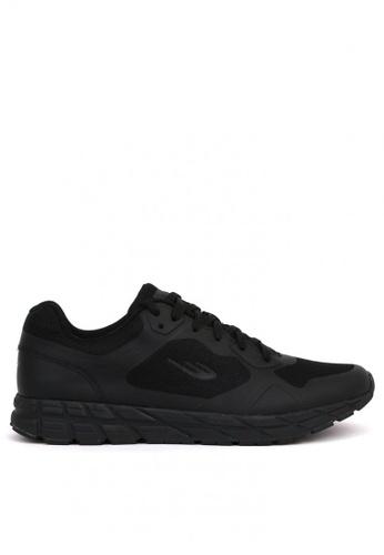 World Balance black Dash Runner Mens Running Shoes A18B0SHCE240B5GS_1