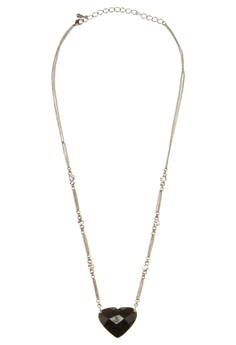 Diamond Edged Heart Necklace
