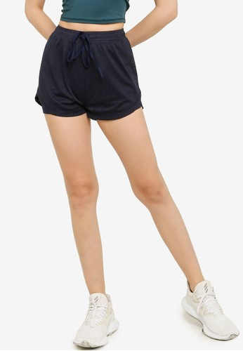 ZALORA ACTIVE navy Running Shorts with Inner Tights B9A15AA869F5D5GS_1