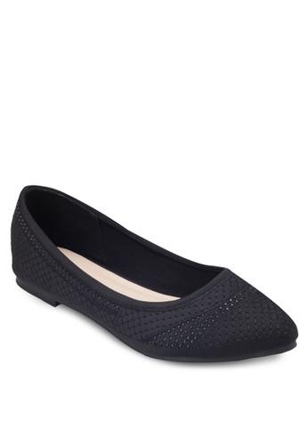 閃飾尖頭平底鞋esprit 工作, 女鞋, 鞋