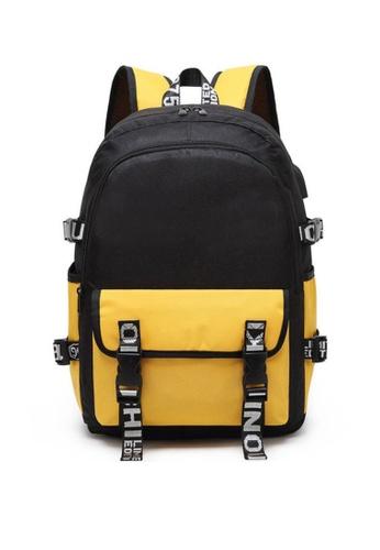 Twenty Eight Shoes yellow VANSA Nylon Oxford Backpacks VAK-Bp9920 6F4E6KC57682D0GS_1