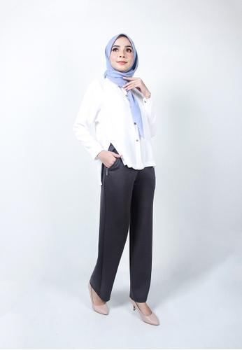 Ladies Jeans grey Zipper Pocket Long Pant E5D25AA281234FGS_1