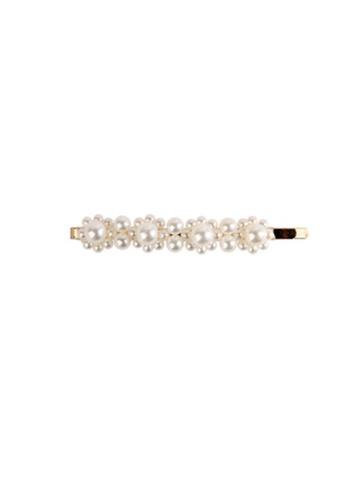 Kings Collection white Faux Pearl Hair Clip (UPHA20085) E4EC2AC44E17C2GS_1